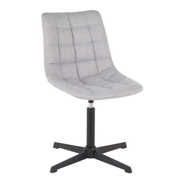 Lumisource Quad Grey Fabric Swivel Chair with 4-Star Metal Base