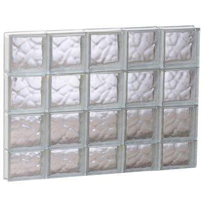 38.75 in. x 29 in. x 3.125 in. Wave Pattern Non-Vented Glass Block Window