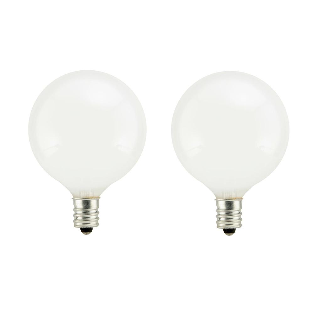 Sylvania 60-Watt Double Life G16.5 Incandescent Light Bulb (2-Pack)