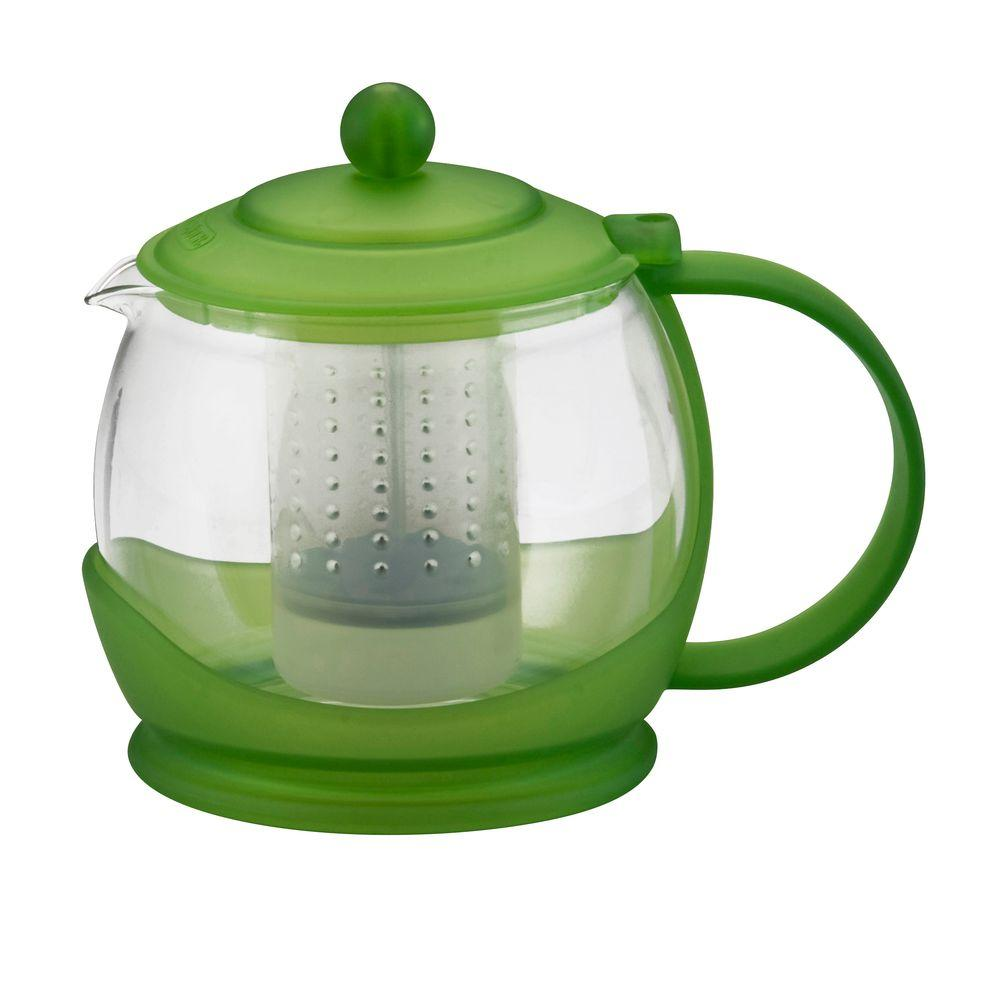 BonJour Prosperity Teapot with Shut-Off Infuser in Green-DISCONTINUED