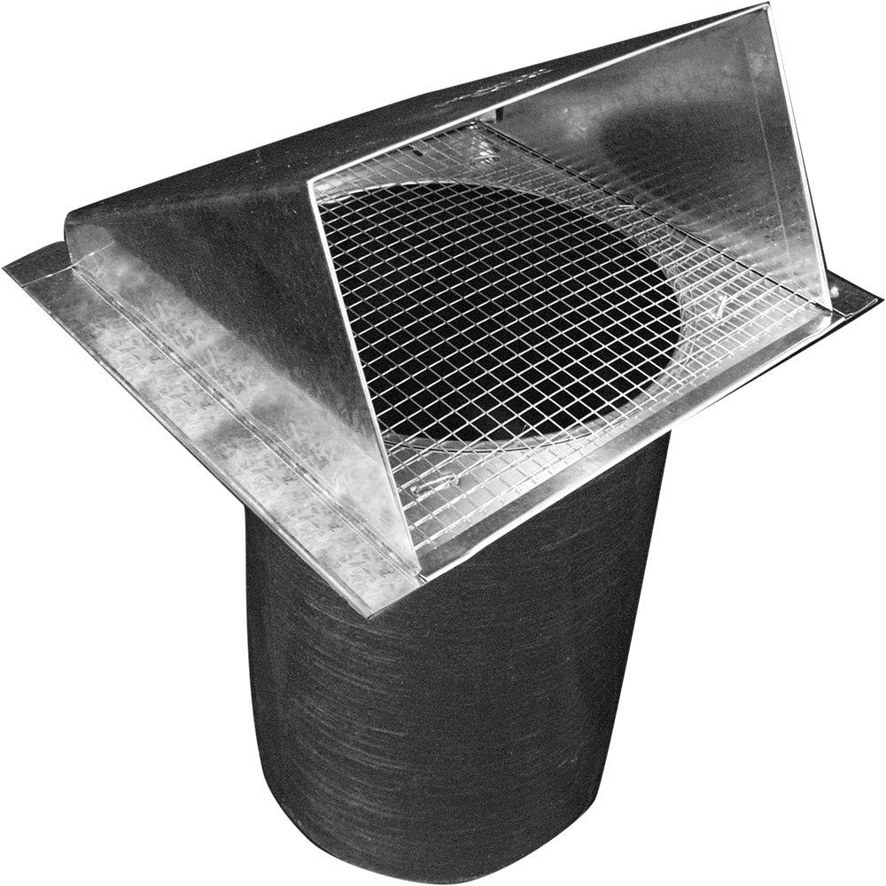 Speedi-Products 4 in. Dia Galvanized Wall Vent Hood with 1/4 in. Screen