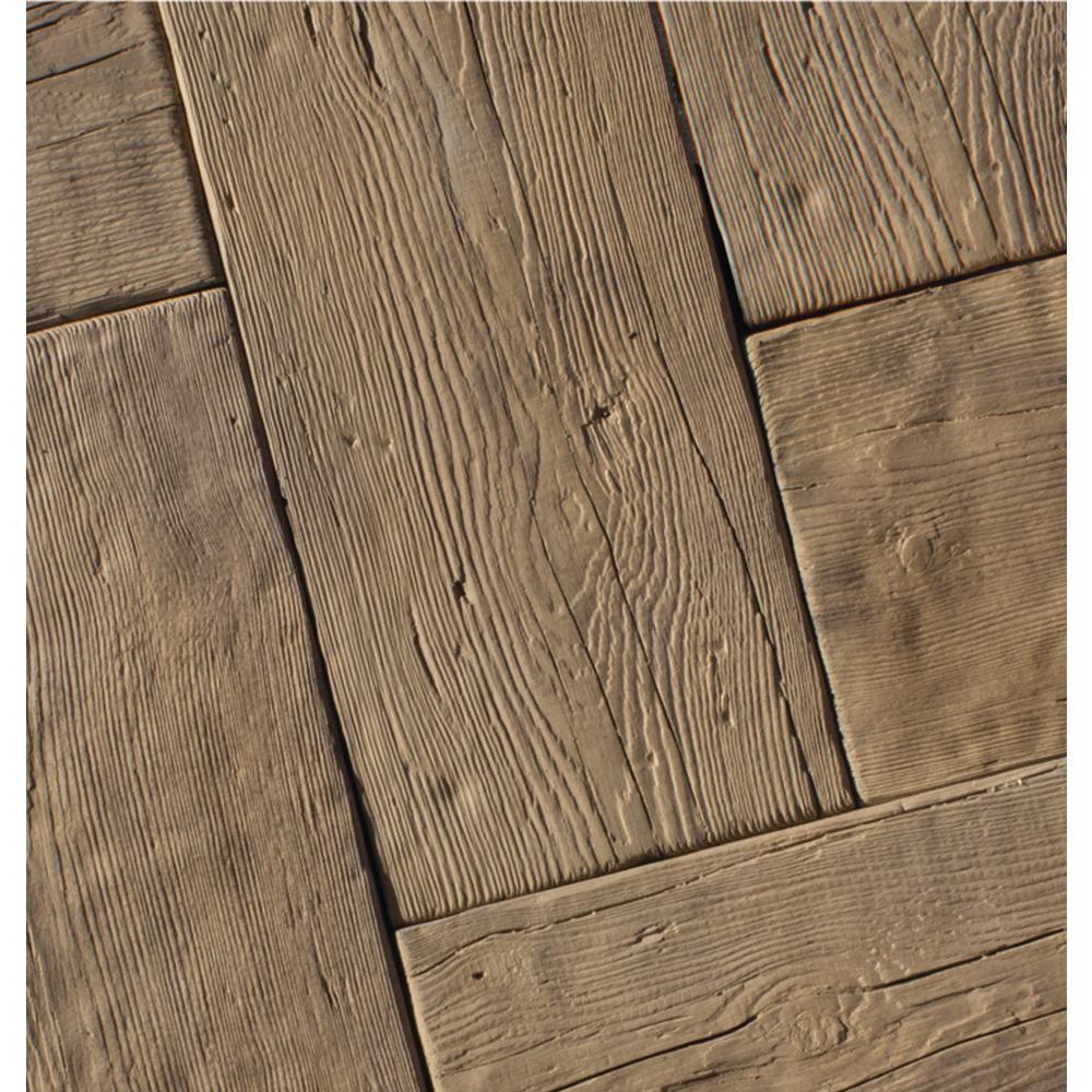 15.5 in. L x 9.75 in. W x 2 in. H Barn Plank  in Cedar Concrete Paver (40-Piece/42 Sq.ft./Pallet)