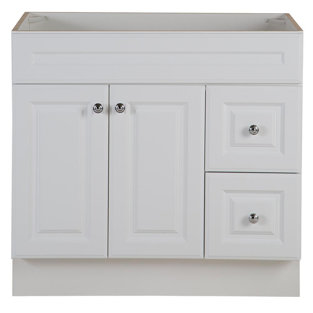 Glensford 36 in. W x 21.65 in. D Vanity Cabinet in White