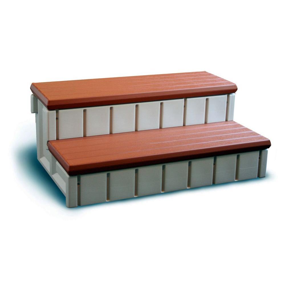 Confer Plastics Spa Step with Redwood Storage