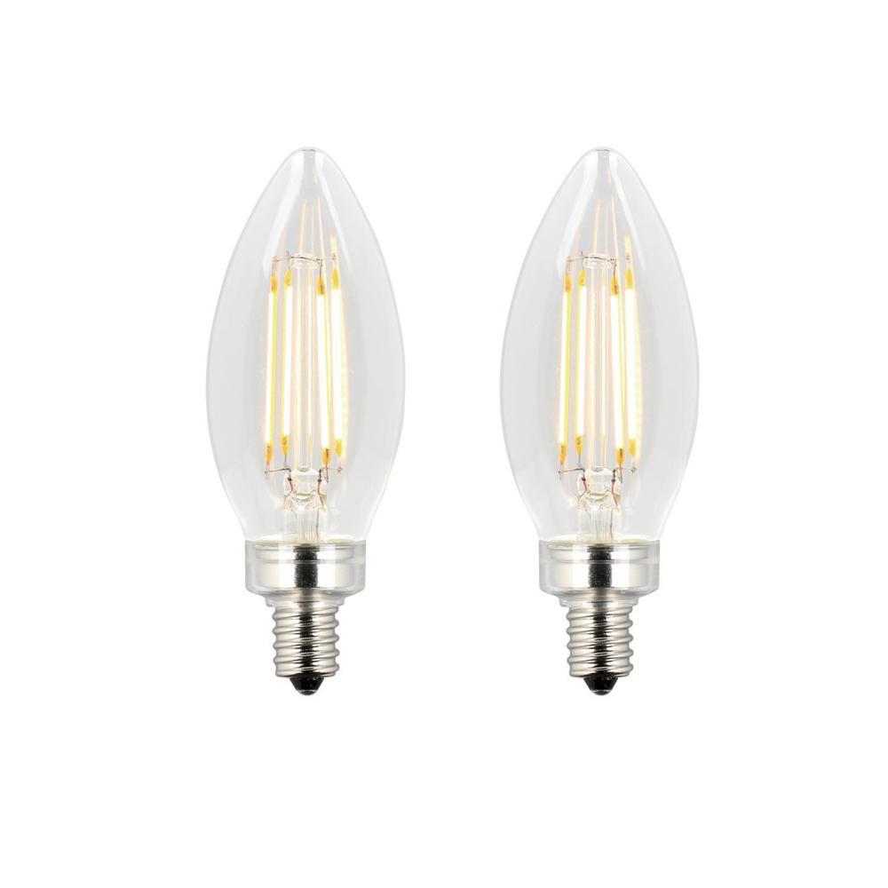 Westinghouse 60w Equivalent Clear B11 Dimmable Filament Led Light Bulb 2 Pack