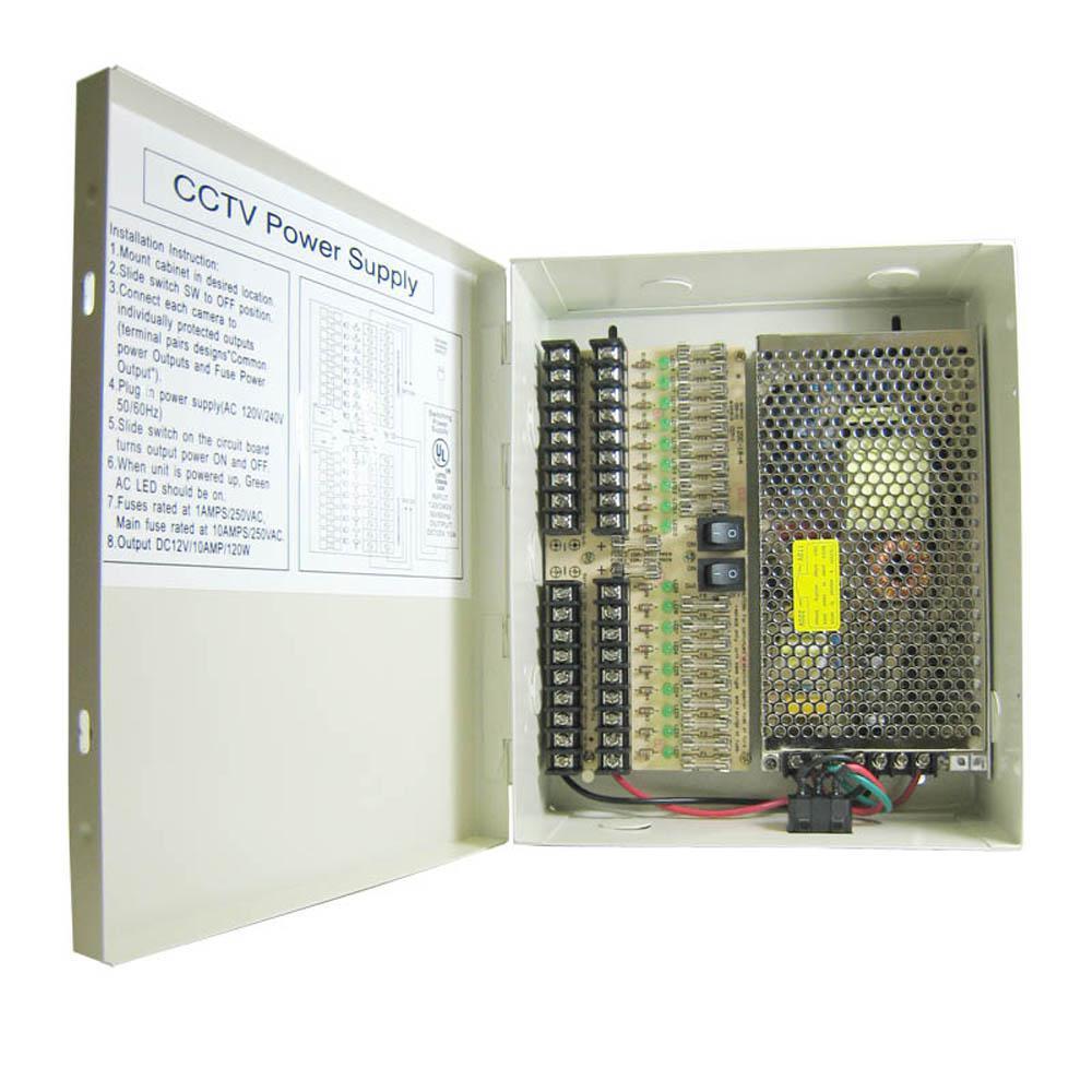 SPT 18-Port CCTV Power Supply Box on