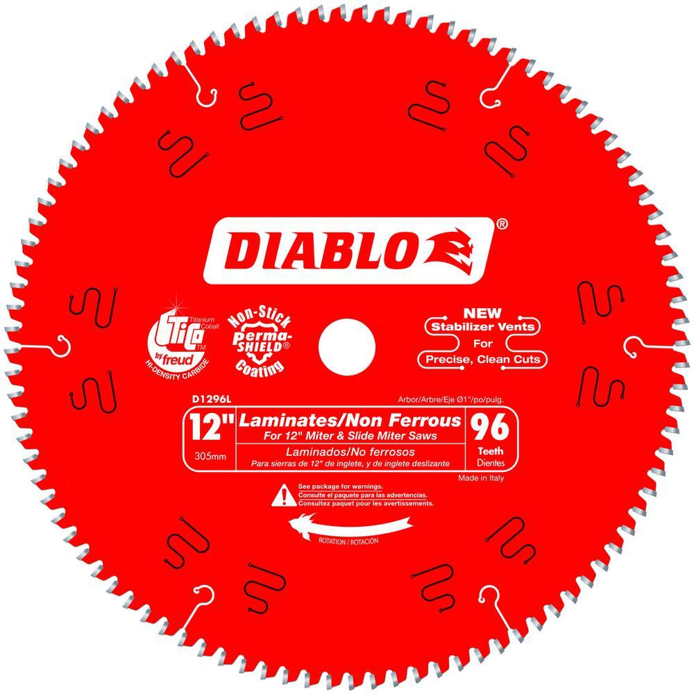DIABLO 12 in. x 96-Tooth Laminate/Non-Ferrous Metal Cutting Saw Blade