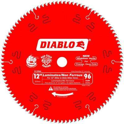 12 in. x 96-Tooth Laminate/Non-Ferrous Metal Cutting Saw Blade