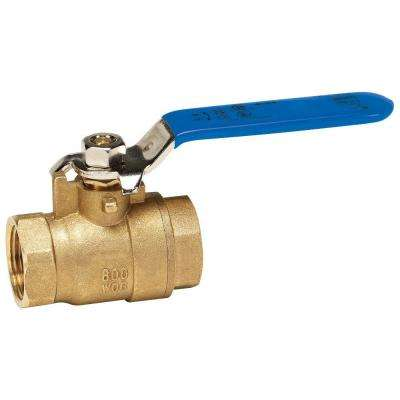 2 in. Packing Gland Lead Free Brass FPT x FPT Full Port Ball Valve