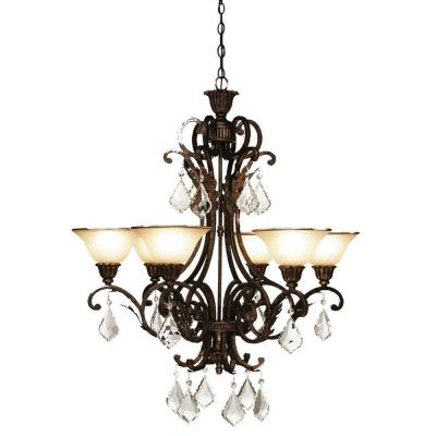 Florence 6-Light Oil Rubbed Bronze Chandelier