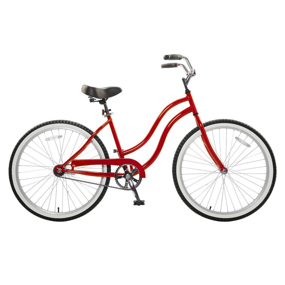Cycle Force 26 in. Wheels 18 in. Frame Women's Bike in Re...