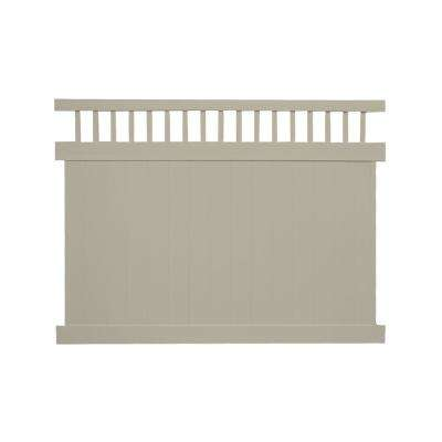Mason 7 ft. H x 8 ft. W Khaki Vinyl Privacy Fence Panel Kit
