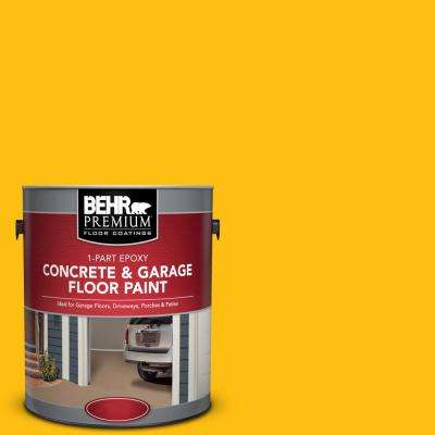 1 gal. #P290-7 Laser Lemon 1-Part Epoxy Concrete and Garage Floor Paint