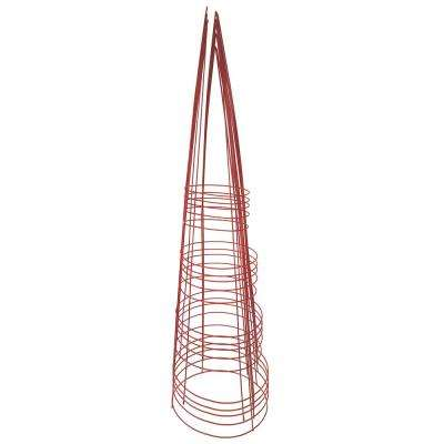 54 in. Heavy-Duty Red Tomato Cage (5-Pack)