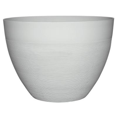 Decatur 20 in. Starlight White Resin Planter