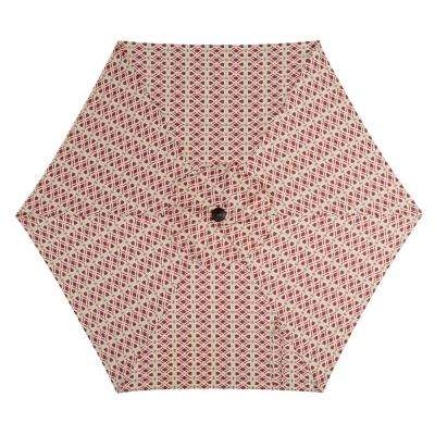 7.5 ft. Steel Market Patio Umbrella in Trellis Chili