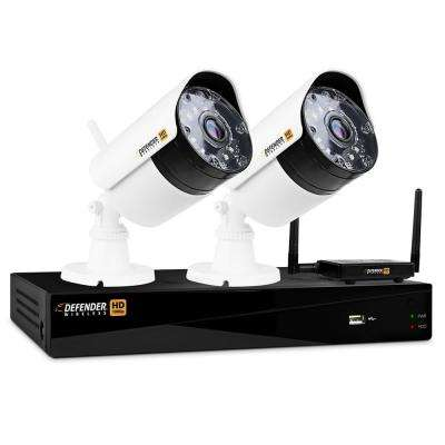 Wireless HD 1080p 4-Channel 1TB DVR Security System with 2-Bullet Cameras