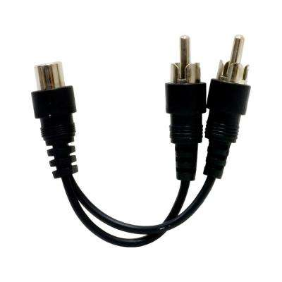 RCA Dual Plugs to 3.5 mm Jack RCA Adapter