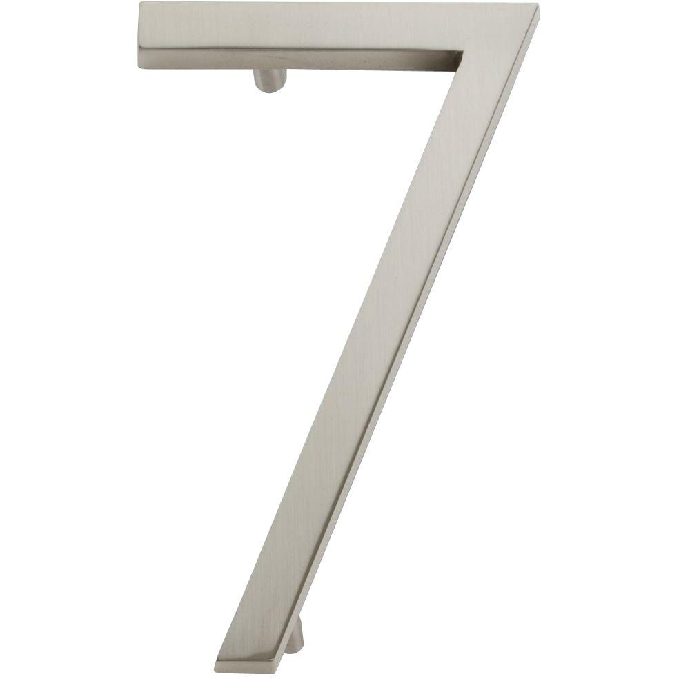 Modern Avalon Collection 4.5 in. Brushed Nickel Number 7