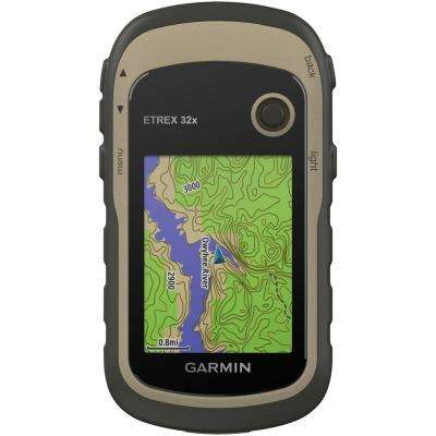 eTrex 32x Rugged Handheld GPS with Compass and Barometric Altimeter