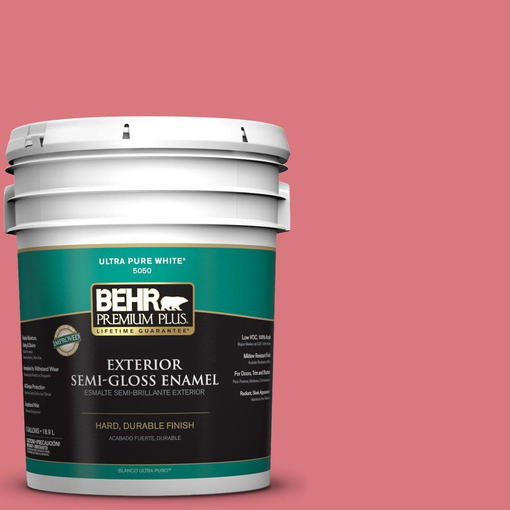 5-gal. #P160-4 Juicy Details Semi-Gloss Enamel Exterior Paint