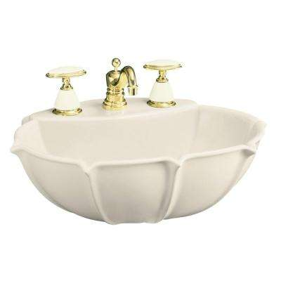 Pedestal Sink Basin In Almond