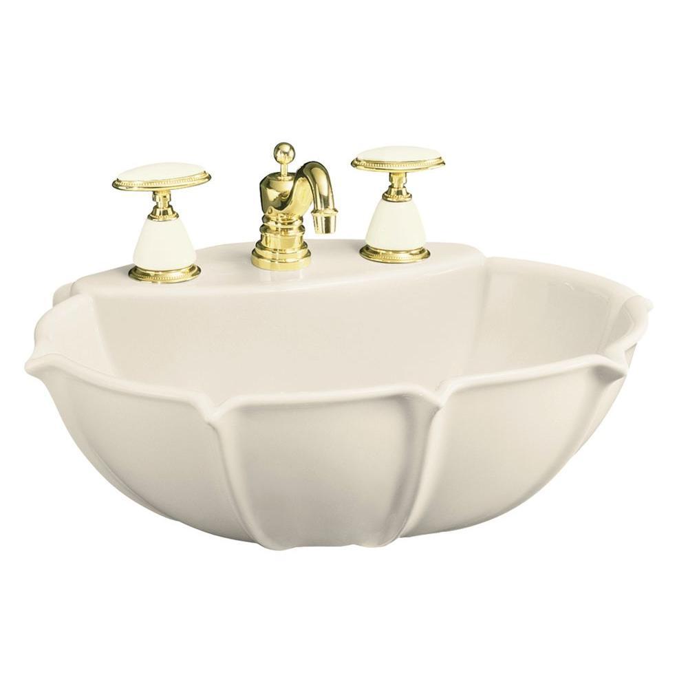 Anatole 21-3/4 in. Pedestal Sink Basin in Almond