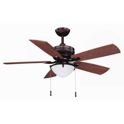 4-Winds 54 in. LED Indoor/Outdoor Weathered Bronze Ceiling Fan
