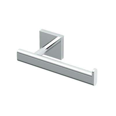 Elevate Euro Single Post Toilet Paper Holder in Chrome