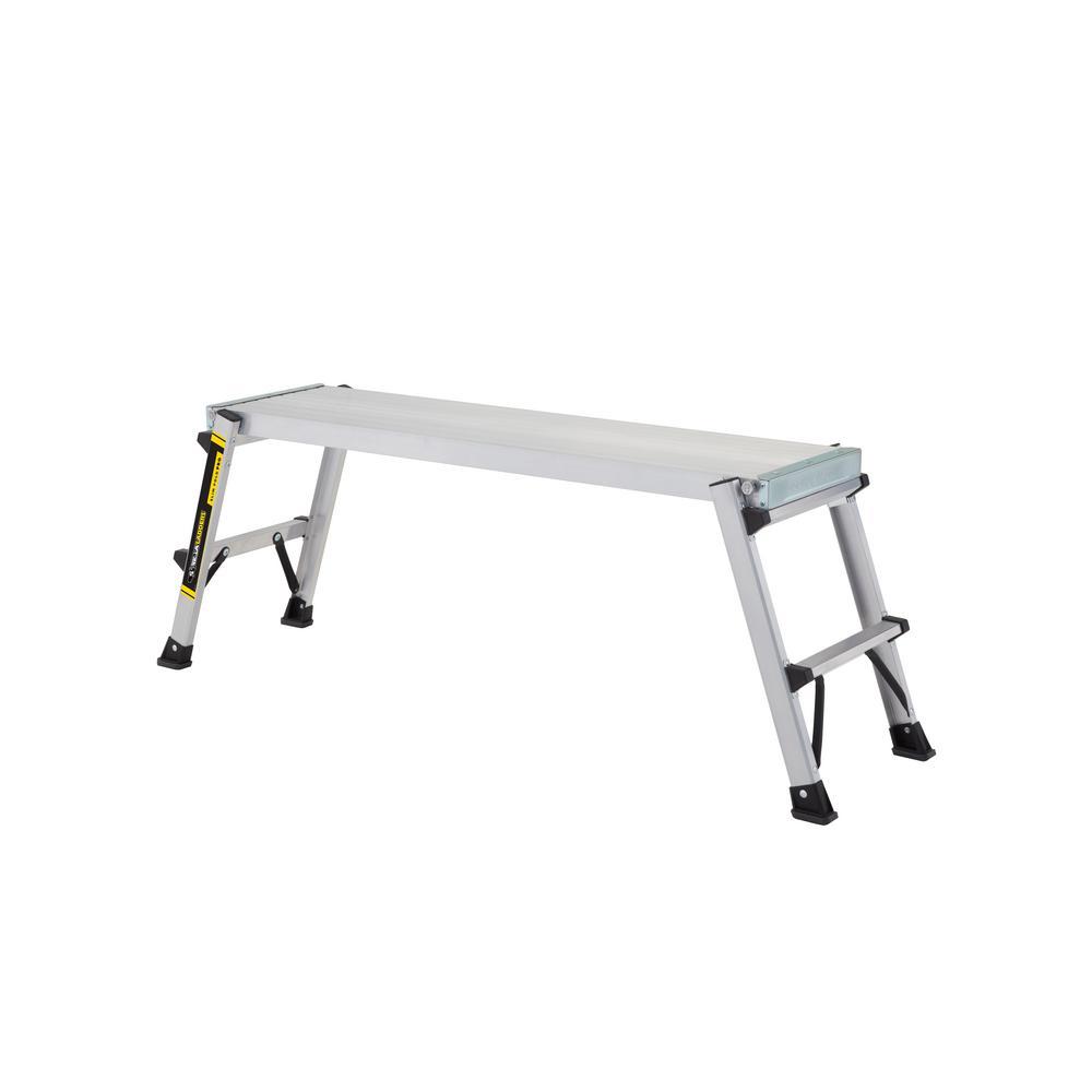 Gorilla Ladders 47 in. x 12 in. x 20 in. Aluminum Heavy Duty PRO Slim-Fold Work Platform with 300 lb. Load Capacity