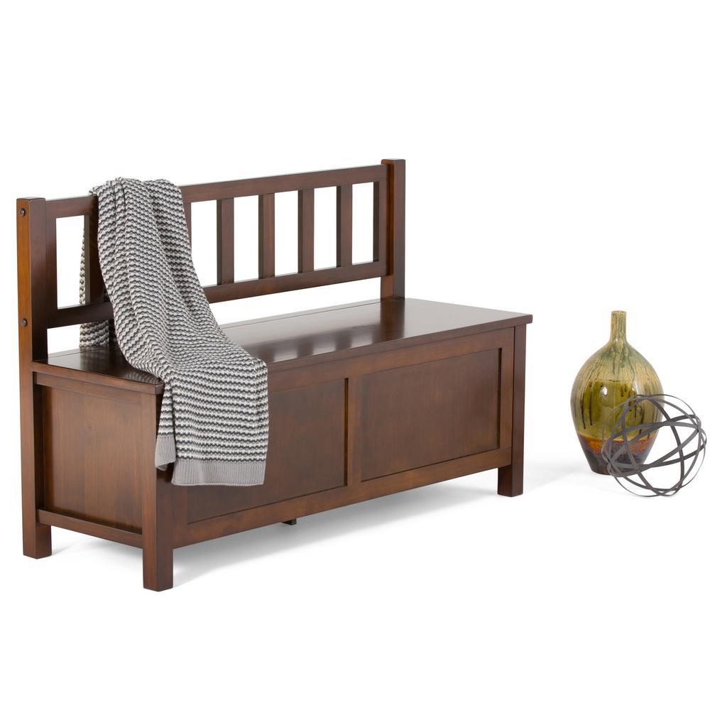 Artisan Medium Auburn Brown Storage  Bench