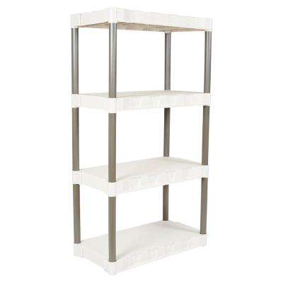 16 in. x 31 in. 4-Shelf Taupe Shelving Unit