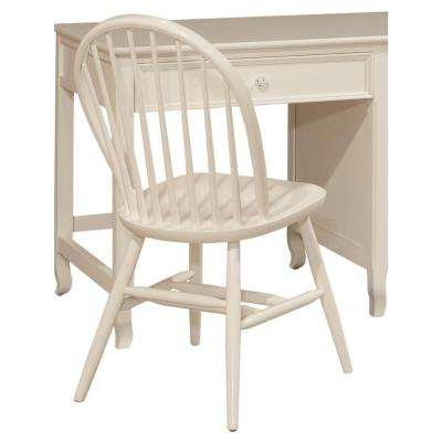Links White Wood Bow Back Office Chair