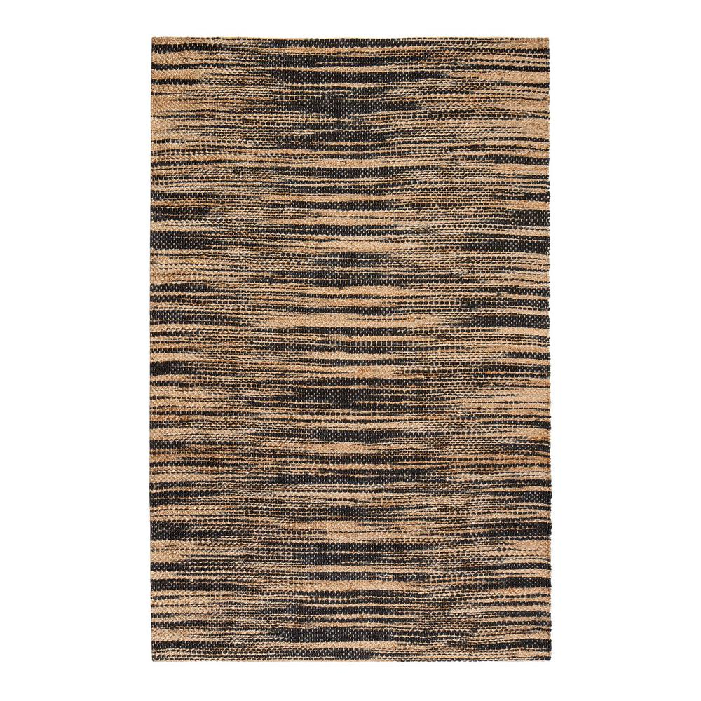 Xanthippe Tan/Black 4 ft. x 6 ft. Area Rug