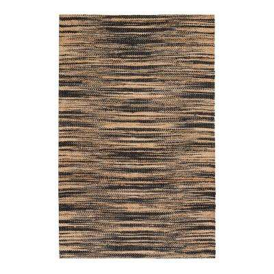 Xanthippe Tan/Black 9 ft. x 12 ft. Area Rug