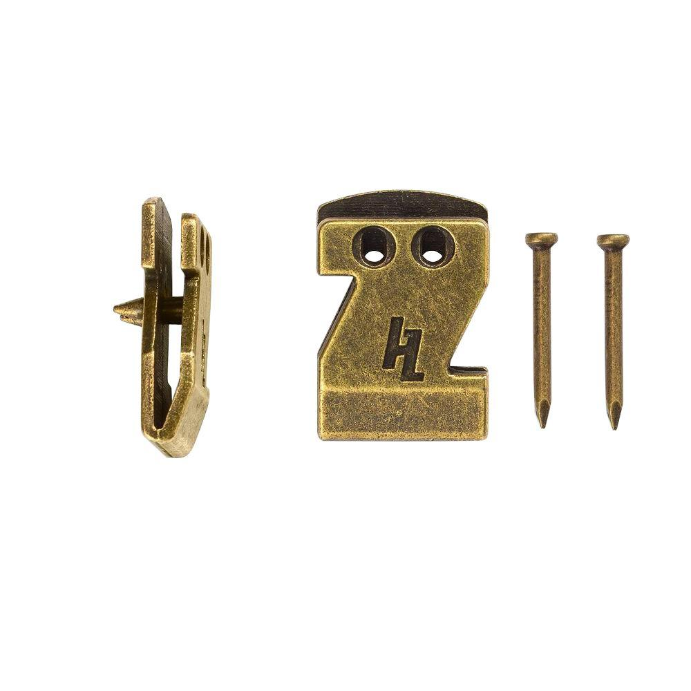 hangz 20 lb flat mount sawtooth hooks 2 pack  40030