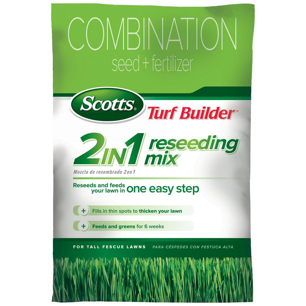20 Lb Turf Builder 2 In 1 Reseeding Tall Fescue Gr Seed Mix