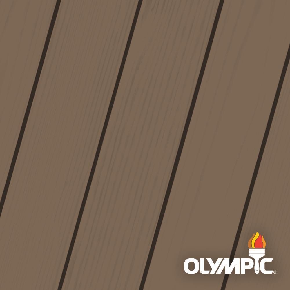 Olympic Maximum 1 Gal Autumn Brown Solid Color Exterior