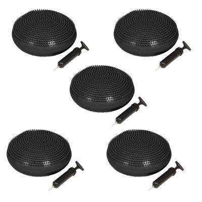 13 in. Dia PVC Fitness and Balance Disc, Black (Set of 5)