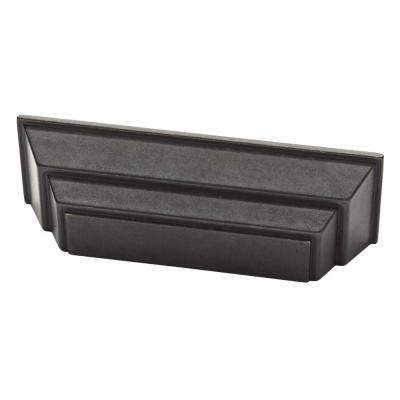 Classic Square 3 in. (76 mm) Soft Iron Cabinet Cup Pull