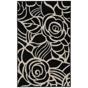 Garland Rug Rhapsody Black/Ivory 3 ft. 4 inch x 5 ft. Accent Rug by Garland Rug