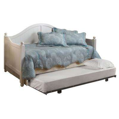 Augusta White Day Bed with Suspension Deck and Roll-Out Trundle