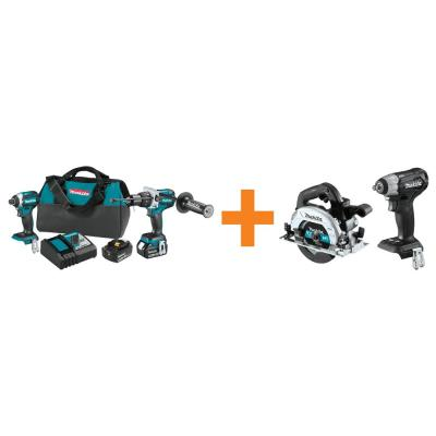 18V LXT Brushless 2-Piece Combo Kit with Bonus 18V LXT Brushless 6-1/2 in. Circ Saw and 18V LXT Brushless Impact Wrench