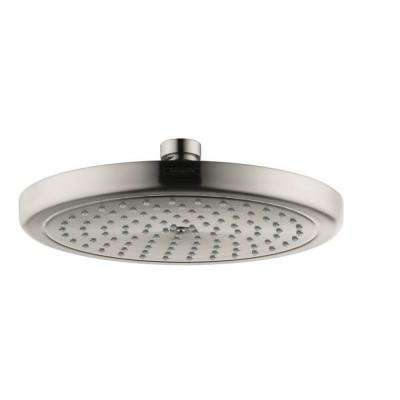 Croma 8.6 in. 1-Spray Fixed Shower Head in Brushed Nickel