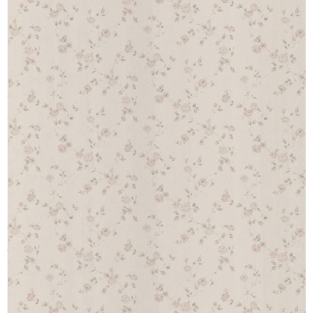 Brewster 56 sq. ft. Rose Trail Wallpaper
