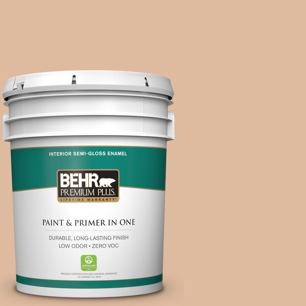 BEHR Premium Plus Home Decorators Collection 5-gal. #HDC-CT-04 Chic Peach Zero VOC Semi-Gloss Enamel Interior Paint