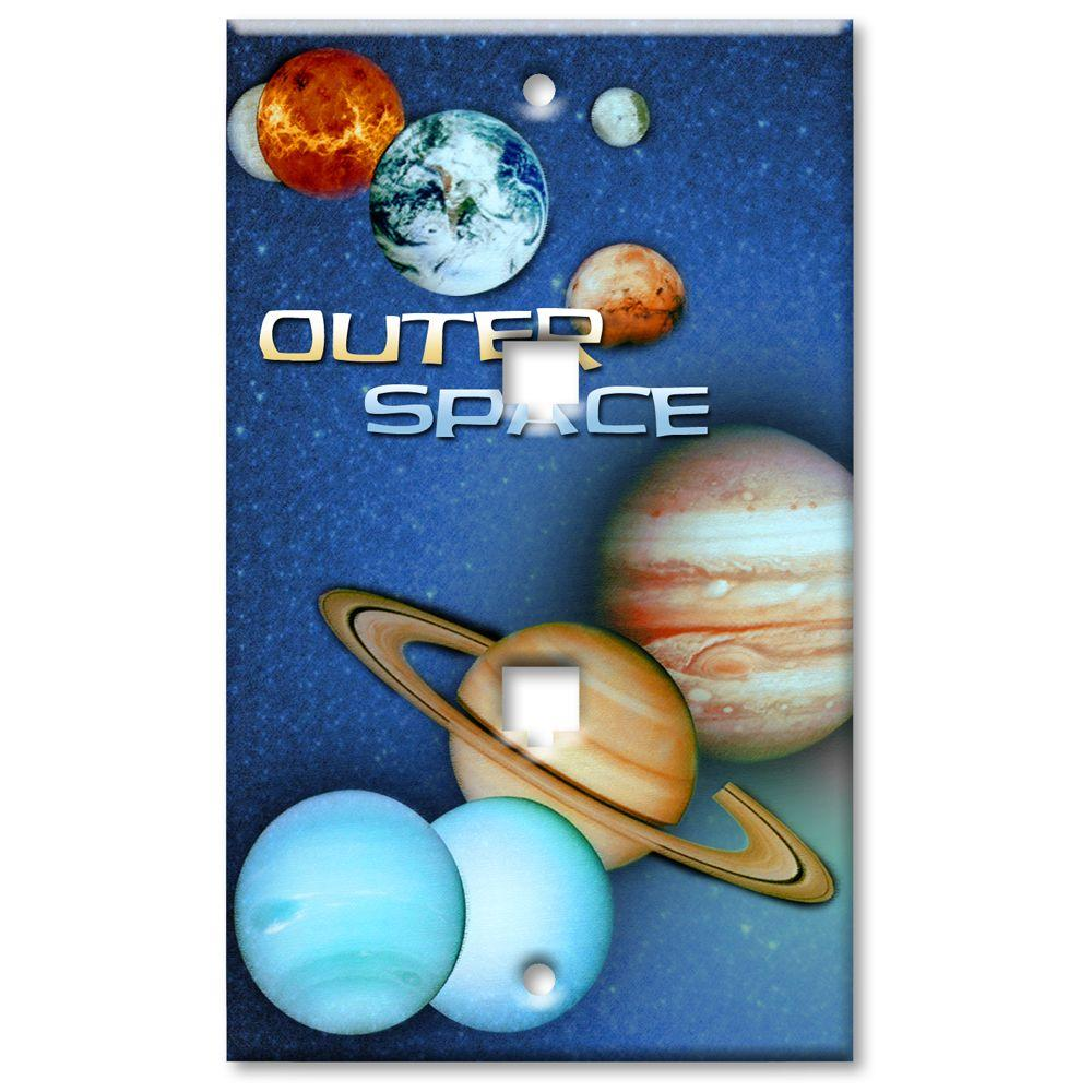 Art Plates Outer Space 2 Cat5 Wall Plate