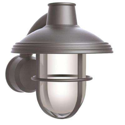 Bayview Satin Nickel Outdoor Wall-Mount Lantern