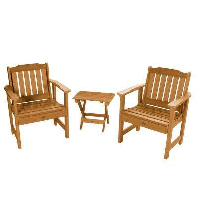 Lehigh Toffee 3-Piece Recycled Plastic Outdoor Conversation Set