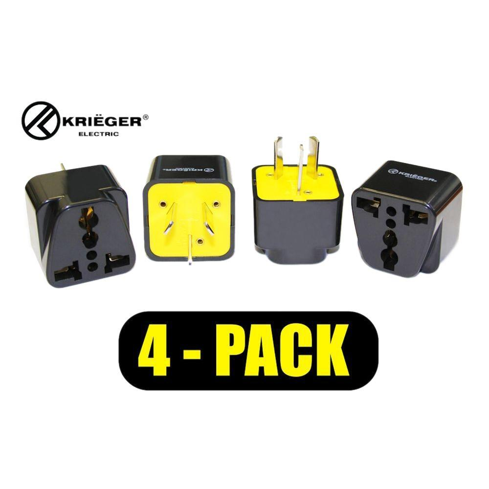 Krieger Universal To Australia Plug Adapter 4 Pack Kr Aus4 The Home Electrical Wiring